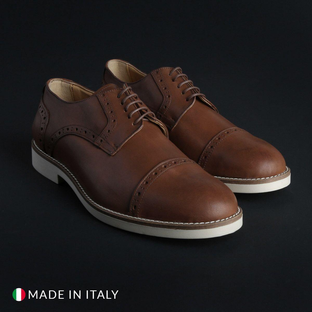 Chaussures à lacets Madrid – 607_PELLE