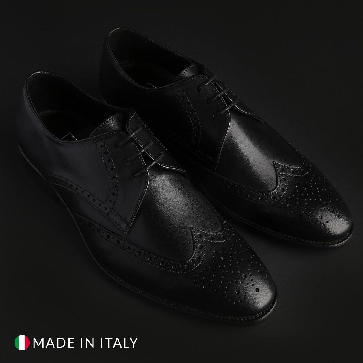 Schnürschuhe Made in Italia – VIENTO – Schwarz