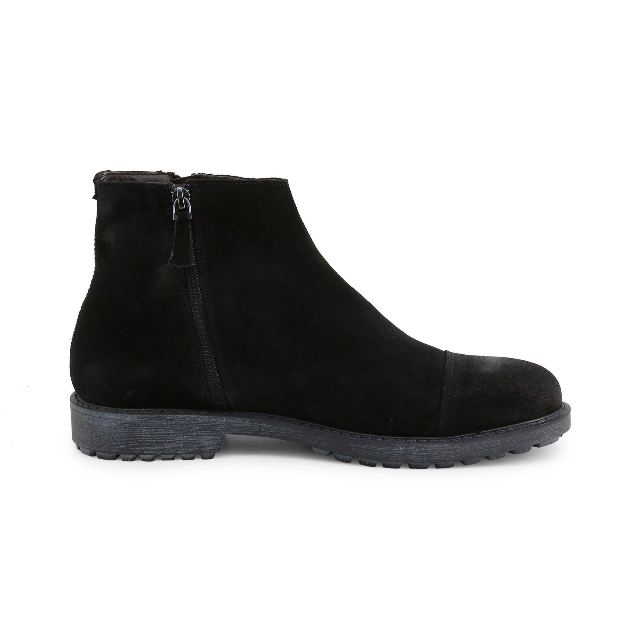 Schuhe Guido Bassi – 7849_CAMOSCIO – Schwarz
