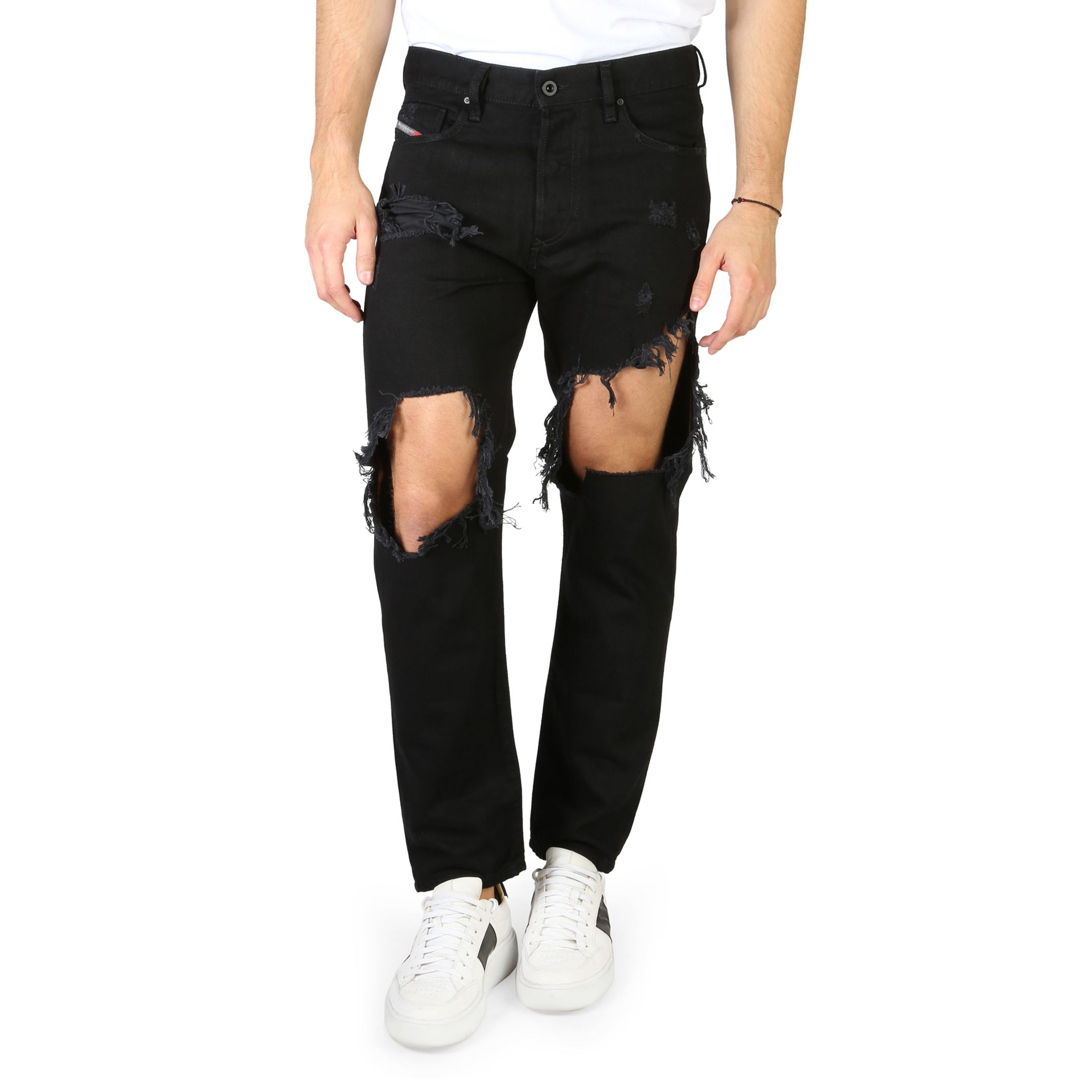 Diesel – STICKKER Black Destroyed Jeans