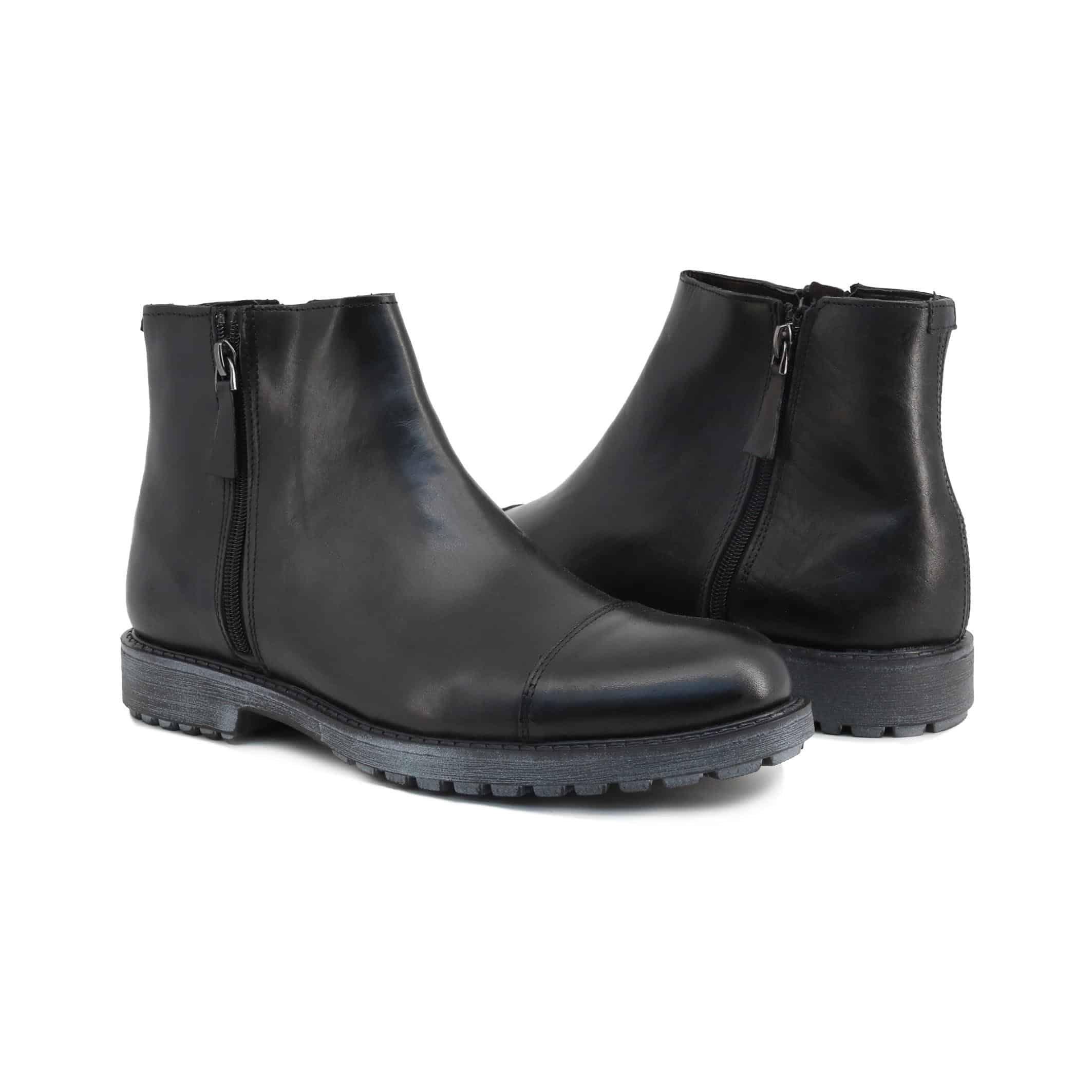 Schuhe Guido Bassi – 7849_CRUST – Schwarz